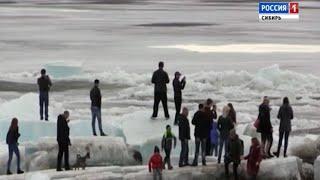 Жители Дудинки понаблюдают за красивым природным явлением на Енисее
