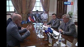 Встреча посла Хорватии и главы Дона: совместный бизнес и шарф болельщика в подарок