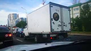 Газель с медведем догнала легковушку на улице Доваторцев в Ставрополе