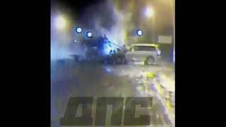 Обнародовано видео ДТП, где гаишник отлетает на 7 метров в Приморье