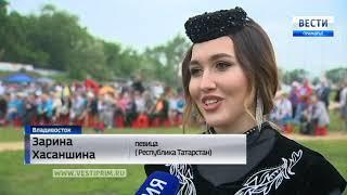 Барашек достался в подарок лучшему батыру на Сабантуе во Владивостоке