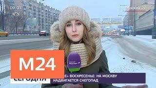 В Москве 2 декабря ожидается сильный снегопад - Москва 24