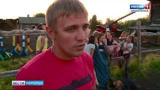 В Архангельске накануне вечером от огня спасали конный клуб.