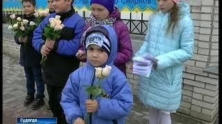 В Судогде дети дарили прохожим цветы