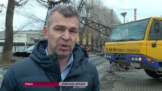 Энергетики обновят опору ЛЭП на Енисейской улице