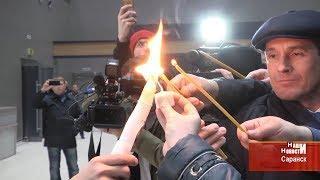 В Мордовию привезли благодатный огонь из Иерусалима