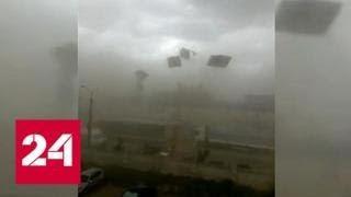 """Жители Казани сняли на видео """"крышесносящий"""" ураган - Россия 24"""