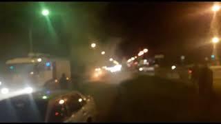 В Ярославле на перекрестке загорелась иномарка