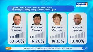 На выборах губернатора Алтайского края обработано 99,44% избирательных бюллетеней