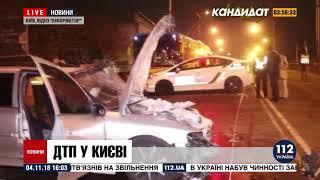 Пьяный водитель выехал на встречку и спровоцировал ДТП в Киеве