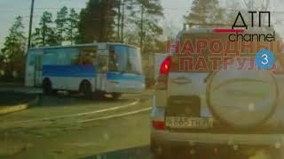 Ангарск. Автобус. Велосипедист. Момент ДТП со смертельным исходом (не для слабонервных)