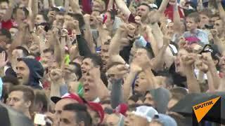 Россия празднует победу над сборной Испании!  01.07.2018