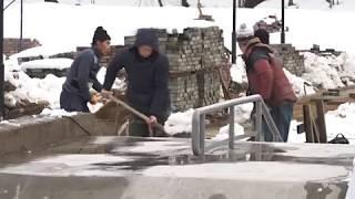 Снегопад не повлиял на ход работ по строительству скейт-парка в Биробиджане(РИА Биробиджан)