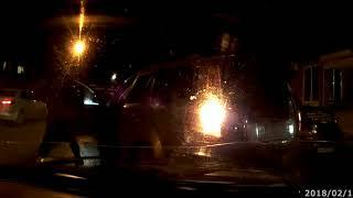Неадекватный водитель Audi устроил серию ДТП и покалечил двух человек