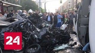 Смертельное ДТП в Петербурге: людей из маршрутки вытаскивали через люки - Россия 24
