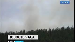 Огонь бушует недалеко от Хужира на острове Ольхон