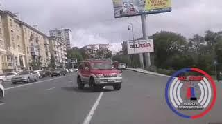 Джип без водителя вызвал переполох в центре Владивостока.