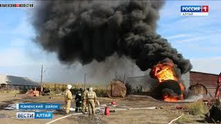В алтайском селе четыре часа тушили бензовоз