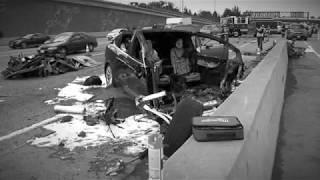 Автопилот Tesla Model X устроил трашую аварию
