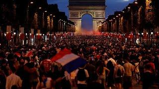 Франция празднует выход в финал ЧМ-2018