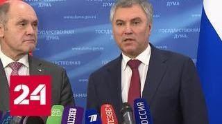 Володин встретился в Москве с главой Нацсовета Австрии Соботкой - Россия 24
