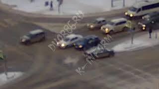 ДТП из-за спешки и льда в Сургуте