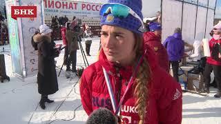 Юлия Белорукова - Чемпионат России по лыжным гонкам 2018 года