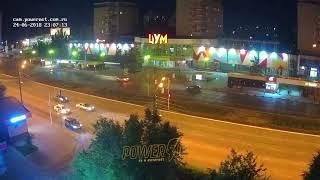 ДТП (авария г. Волжский) пр. Ленина 85 вид на ЦУМ 24-06-2018 23-06
