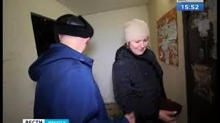 Лопнувший водопровод затопил двор жилого дома в Иркутске