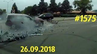 Новая подборка ДТП и аварий. «Дорожные войны!» за 26.09.2018. Видео № 1575.