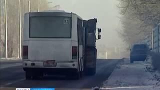 Возле СФУ загорелся автобус