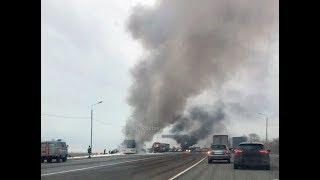 На Ставрополье загорелся пассажирский автобус