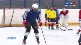 Первая тренировка юных хоккеистов