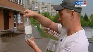 Вода с червями идет из водопровода в одном из поселков Красноярского края