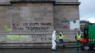 Участники протестов в Париже повредили музейные помещения Триумфальной арки на сотни тысяч евро
