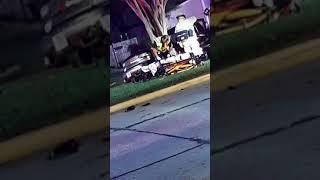 car crash near house