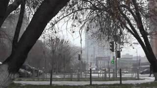 Первый снег в Тюмени 30 октября
