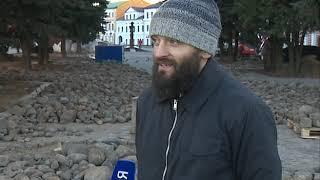 В Рыбинске местные жители восстанавливают старинную мостовую