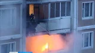 Жильцы многоэтажки пытались приготовить шашлык на балконе