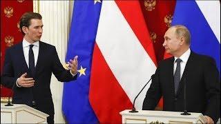 Пресс-конференция по итогам переговоров Владимира Путина и Себастьяна Курца. Прямой эфир