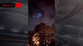 Странные голубые огни в небе над Москвой напугали жителей столицы