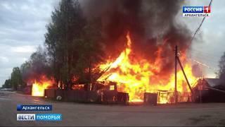 Причиной пожара в Холмогорском районе стала неисправная печь