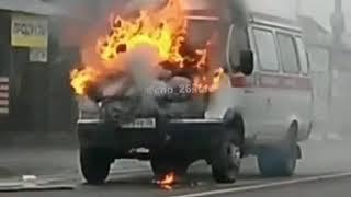 В селе Ивановском карета «Скорой помощи» загорелась в пути