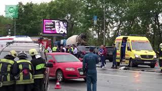 ФАН публикует видео с места крупного ДТП на Кутузовском проспекте в Москве