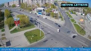 массовое дтп в Москве (бмв протаранил 3 автомобиля)