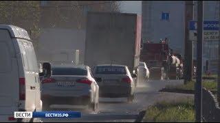 Огромные пробки парализовали автомобильный трафик в Вологде