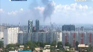 В офисном здании на проспекте Мира загорелась кровля