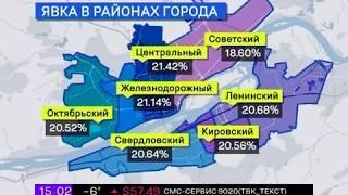 Данные Краевого Избиркома Красноярска (15:00)