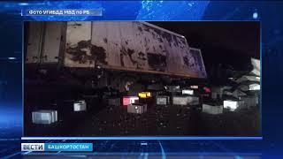 Под Уфой водитель «Газели» погиб, столкнувшись с автоцистерной