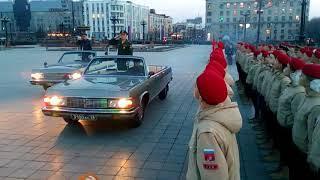 репетиция парада Хабаровск 25 апреля 2018 ролик 1